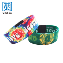 China Supplier Professional Made Elastic Cheap Printed Polyester Wristbands
