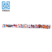 Sublimation bracelet customized festival fabric polyester one time slide lock smart wristband