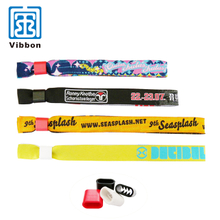 Festival Fabric short woven wristbands for teenagers