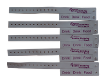 high quality custom promotion Vinyl wristbands with removeable tabs