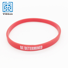 China supplier promotional one time use silicone wristband