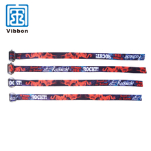 Colorful event Sublimation Satin Wristband with reusable lock