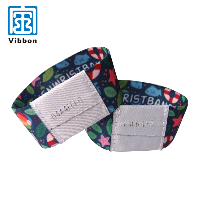 Soft polyester elastic wristband, Eco-friendly fancy elastic wrist band