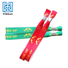 Custom thermal transfer printing printed fabric bracelet ribbon satin active wristbands